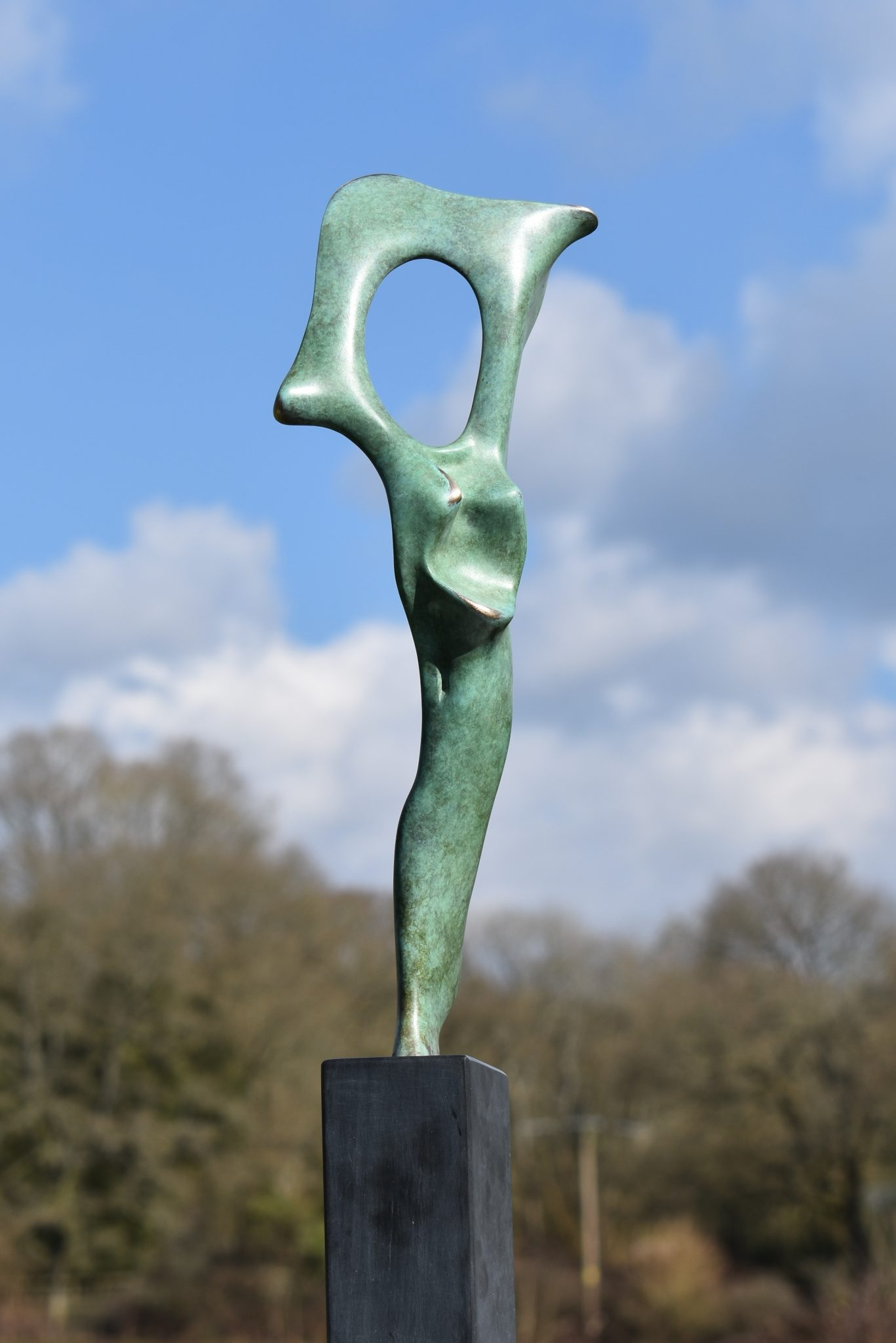 Bone Form I bronze sculpture
