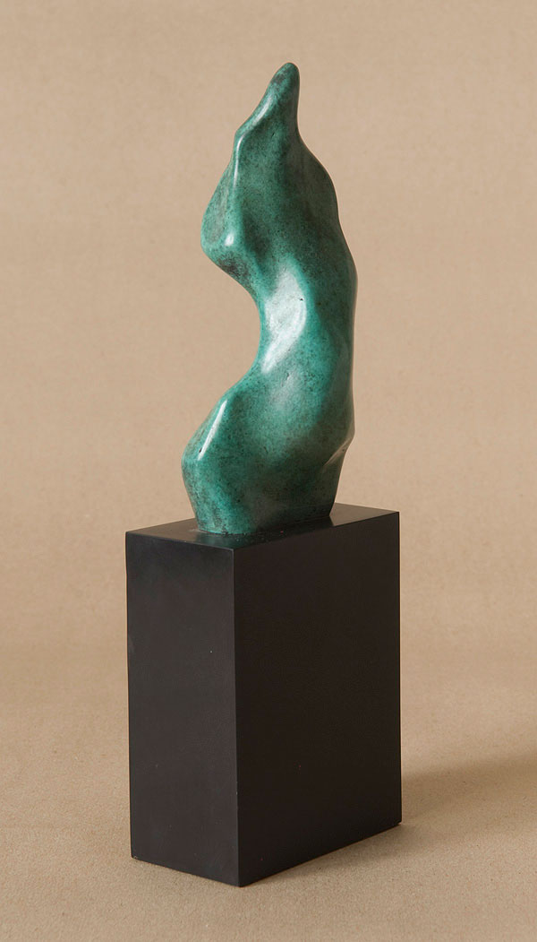 Small bronze figurine of abstracted female torso Eve.