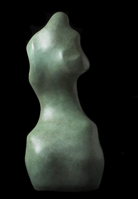 Eve IV bronze sculpture of female torso for garden or interior