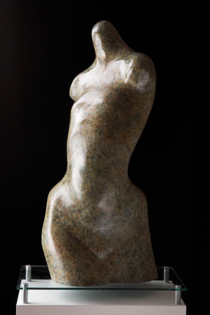 Eve-IV bronze sculpture of female torso for garden or interior