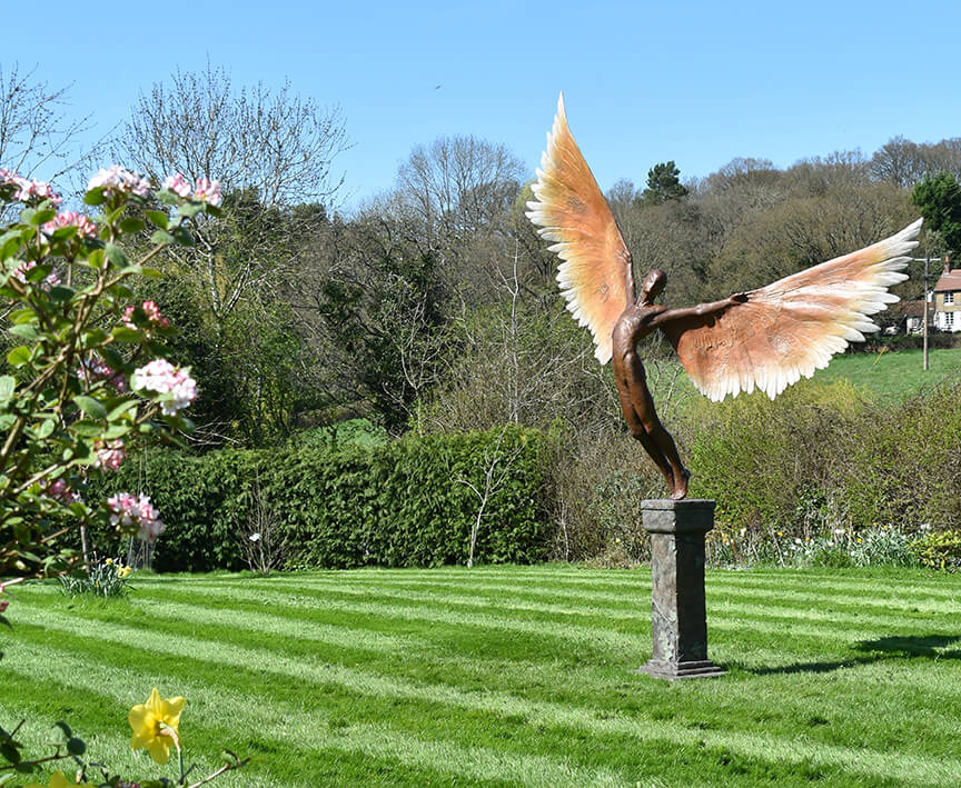 Icarus I Large Bronze resin sculpture
