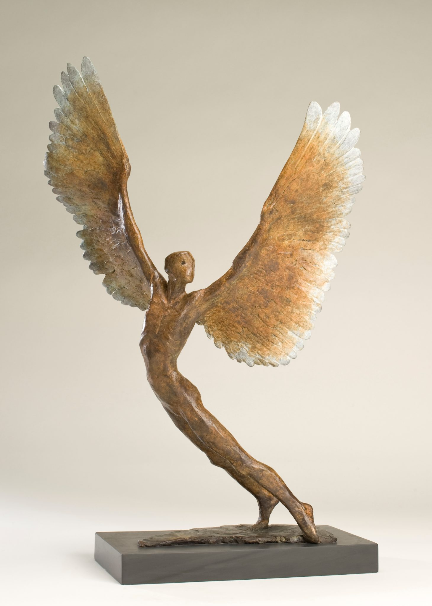 Bronze figurative sculpture of Icarus