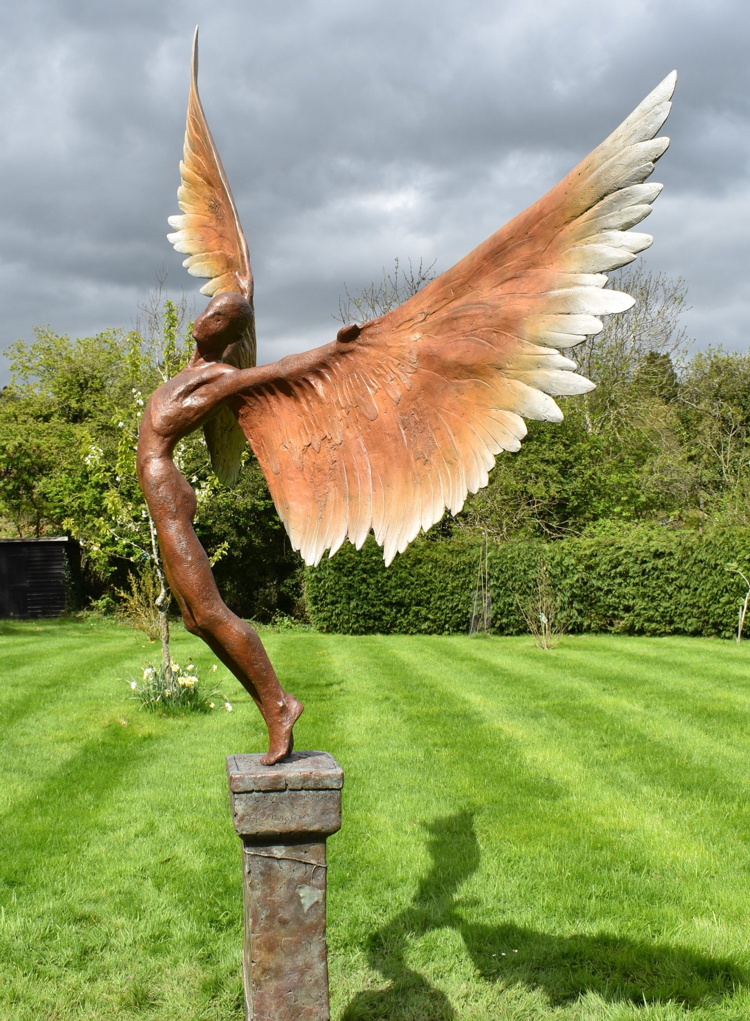 Boy with wings sculpture for sale