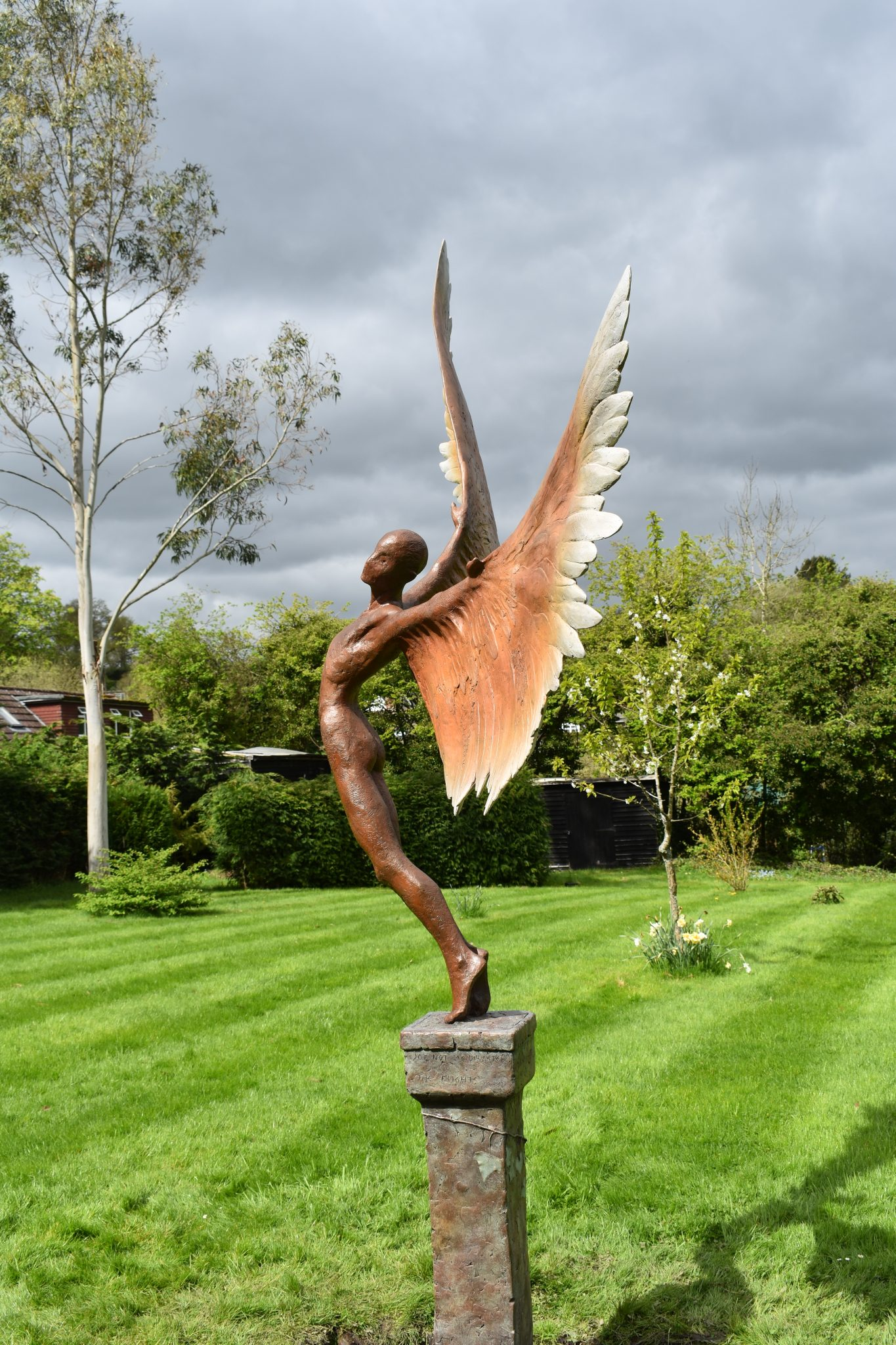 Icarus resin bronze sculpture