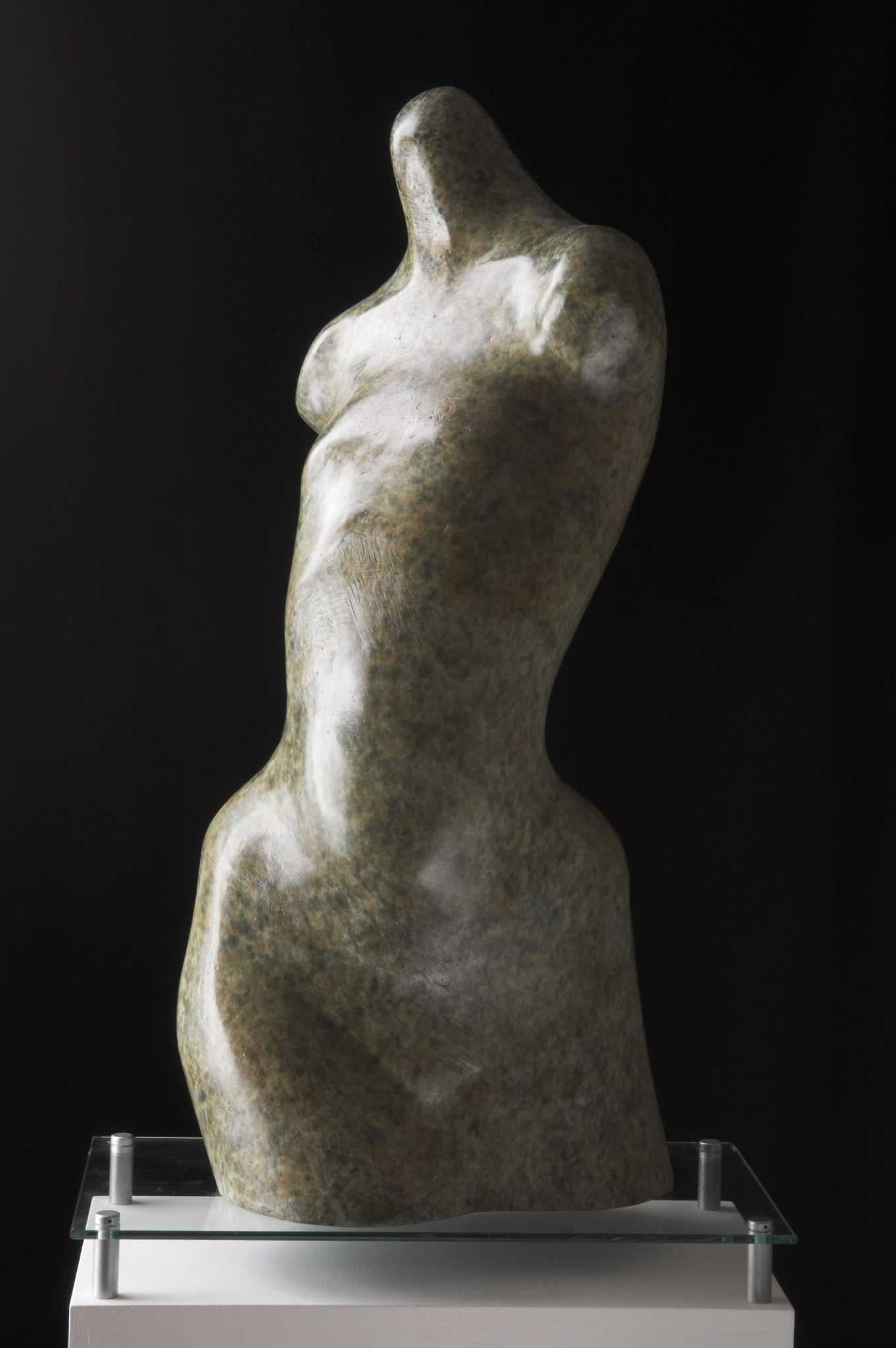Bronze female torso