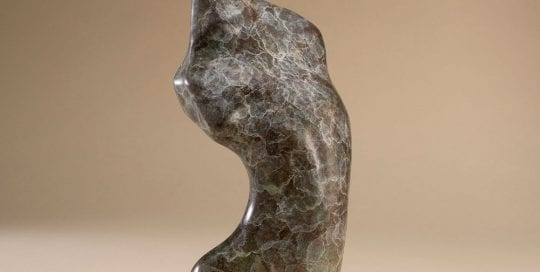 Small bronze figurine of abstracted female torso Torse de Femme.