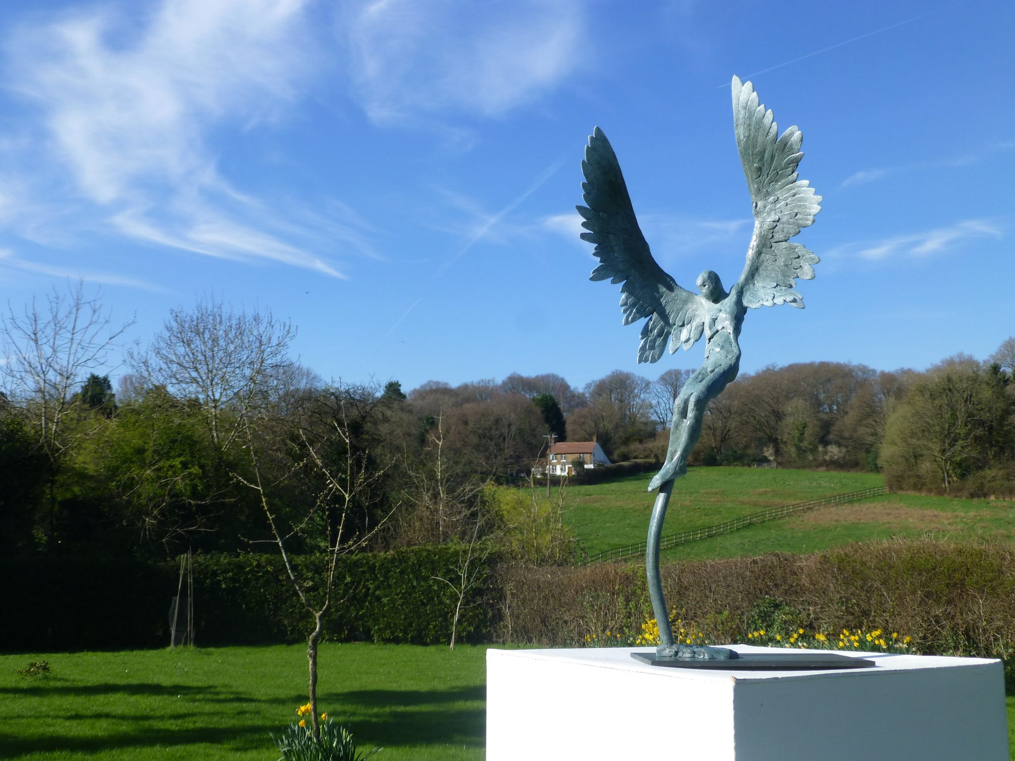 Icarus IV bronze sculpture for sale