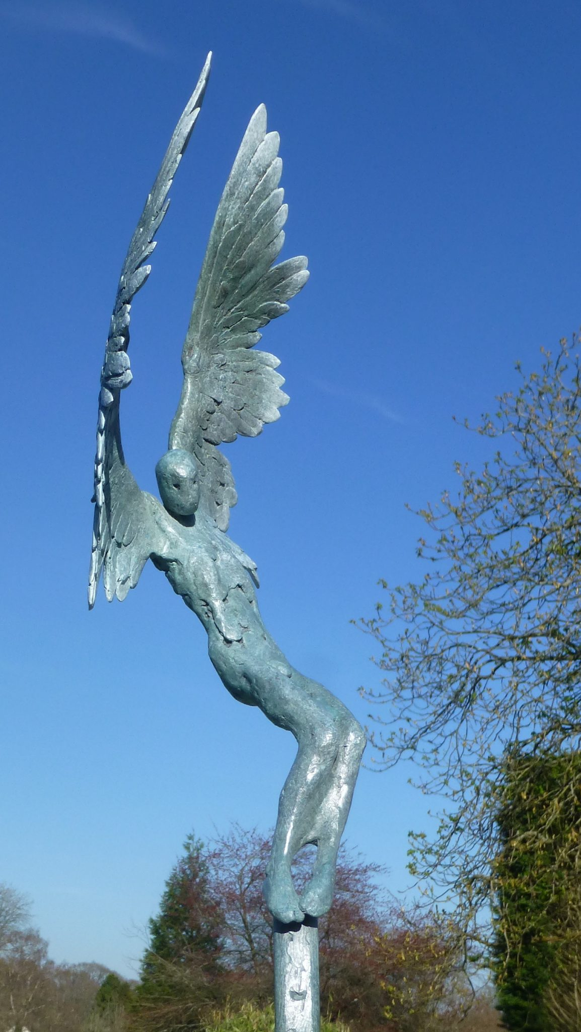 Icarus IV small bronze sculpture