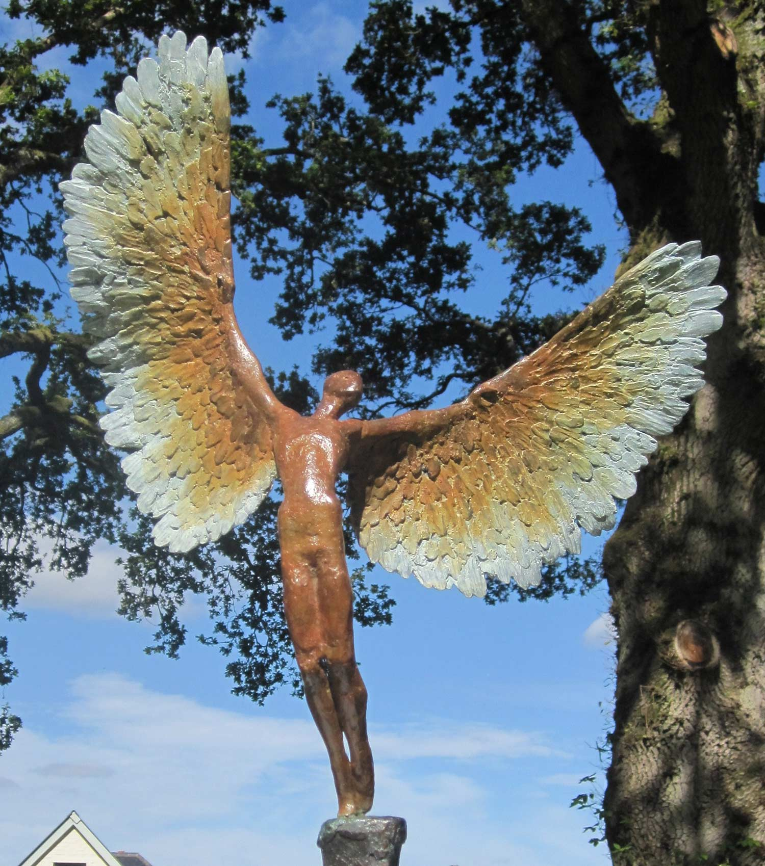 Icarus-VI bronze figurine sculpture for sale.