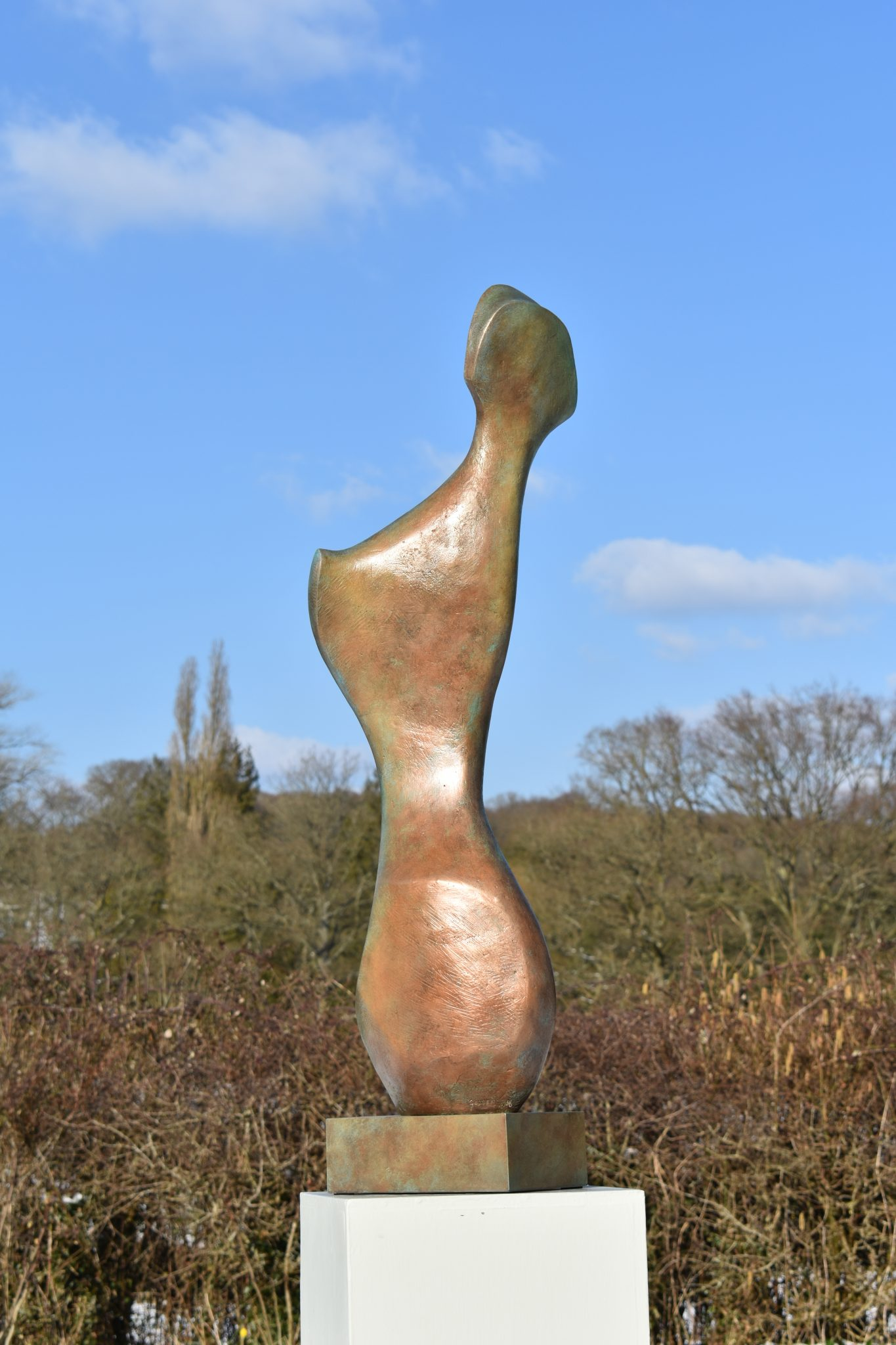 Bone Form IV bronze sculpture