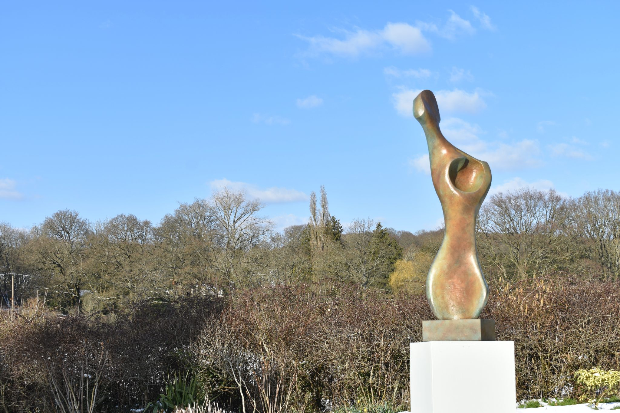 Bronze abstract figurative sculpture for garden