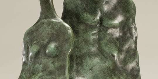 Bronze sculpture of a couple