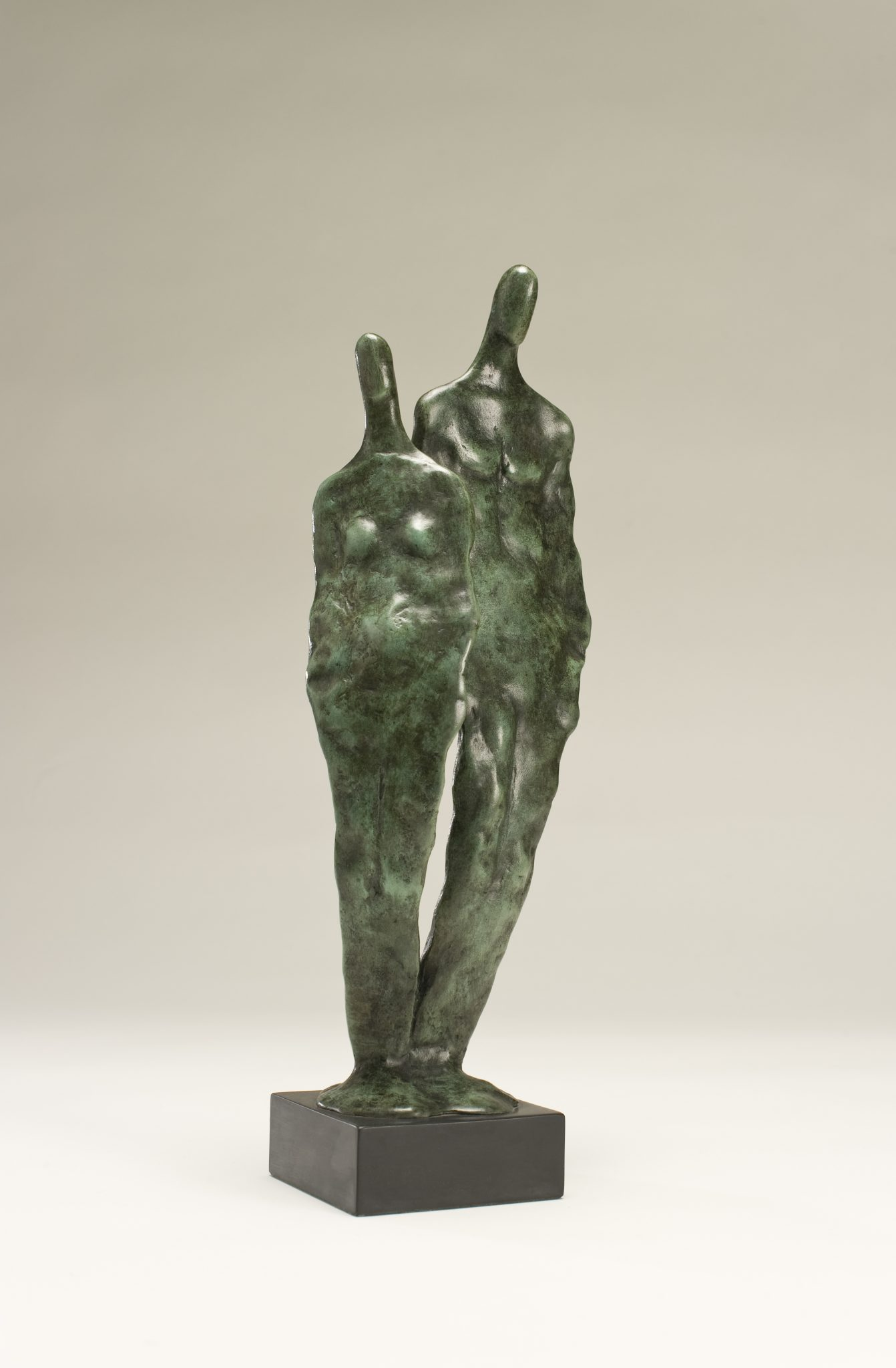 Bronze sculpture of a man and woman