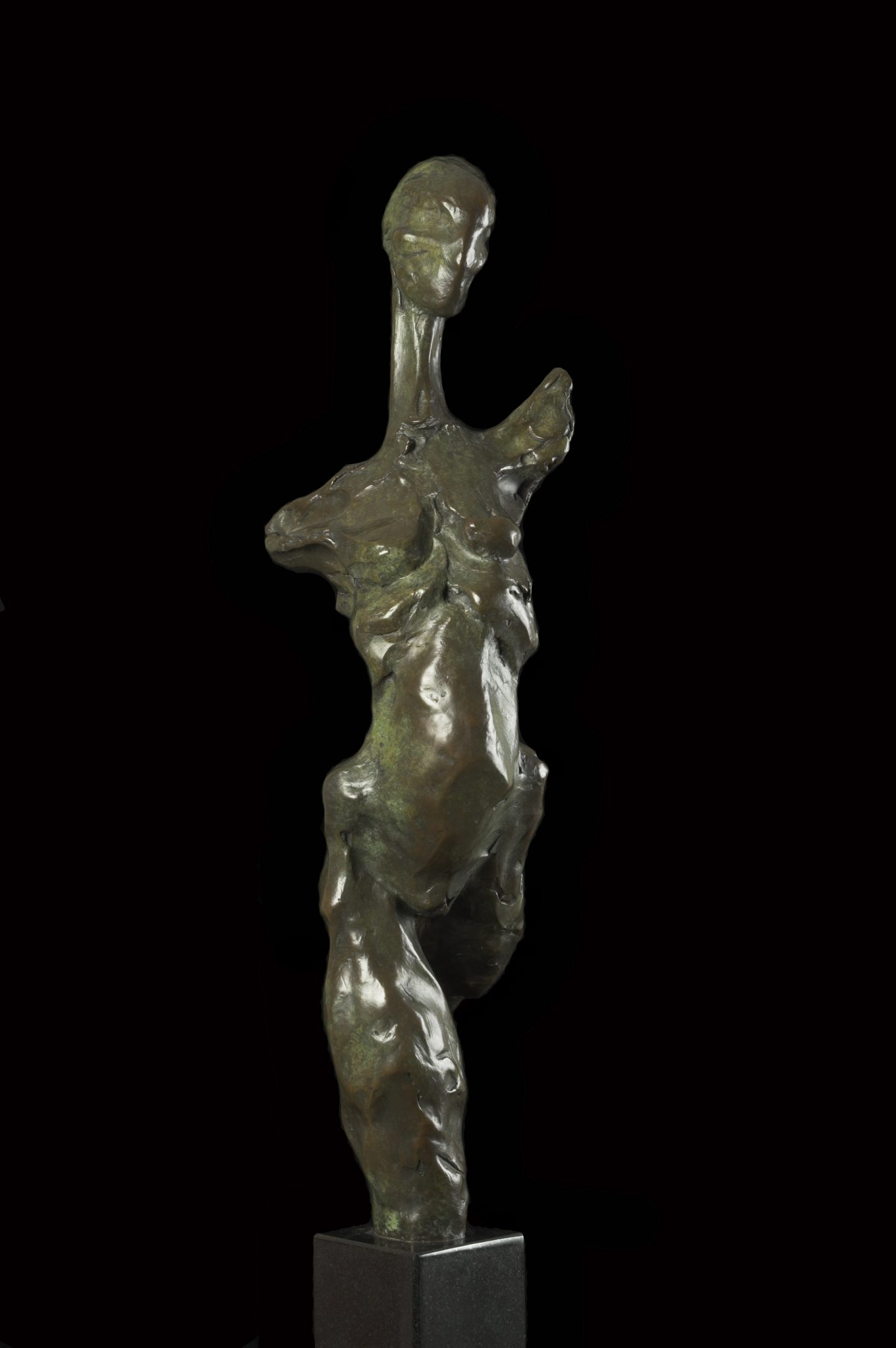 Bronze sculpture of dancing figure