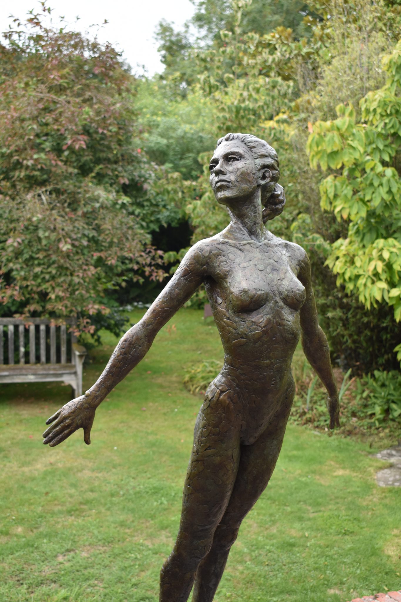 Nude bronze female figure
