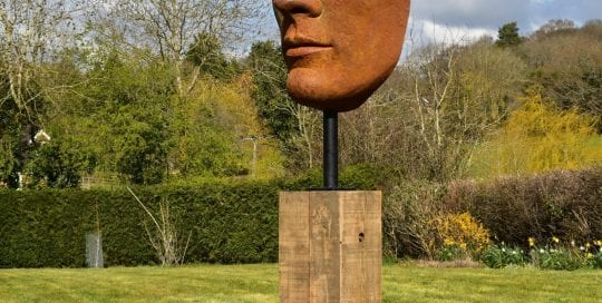 Sculpture of large face